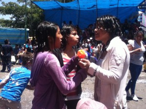 Evelyn, Adriana, and Vanessa...DRENCHED :)