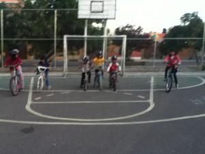 Bike race--Mariela, Bryssa, Alandra, Adriana, Marcos, and Laura