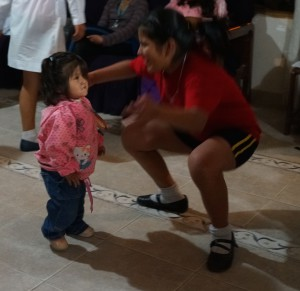 Catalina and Mariela busting out the moves