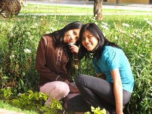 Johana and Jhoselin in the park