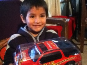 Diego and his new truck