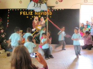 Our pedacitos performing a traditional Bolivian pole dance