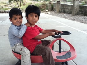 Cristian and Alarico having fun sharing